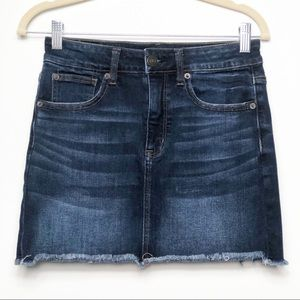 American Eagle Hi-Rise mini jean skirt